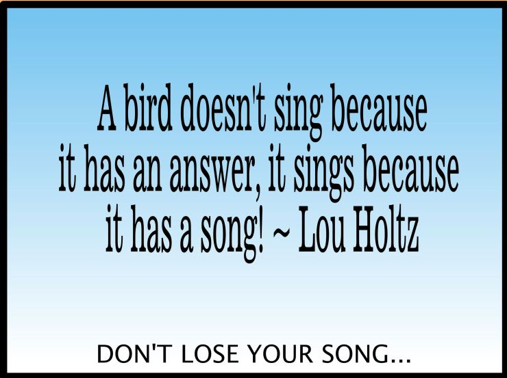 Don't lose your song!